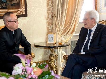 """意大利总统期待意中加强""""一带一路""""合作"""