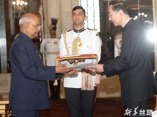 印度总统表示高度重视发展对华关系