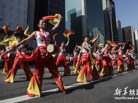 巴西圣保罗举行中华文化快闪活动