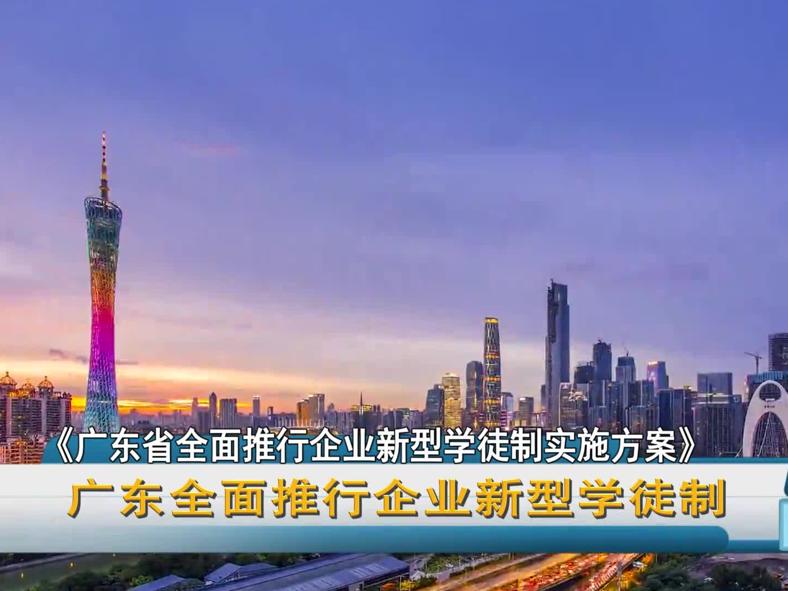 广东全面推行企业新型学徒制