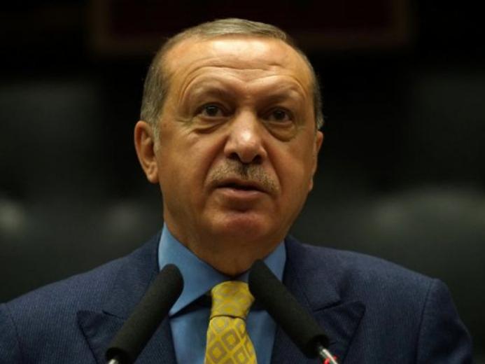 """土耳其总统说""""绝不容忍""""美国拖延叙利亚""""安全区""""计划"""
