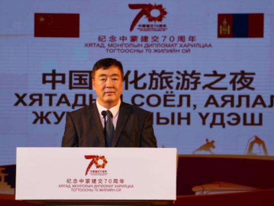 """""""中国文化旅游之夜""""文艺晚会在乌兰巴托举行"""