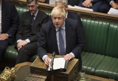 """英国议会下院阻止""""无协议脱欧"""" 约翰逊提前大选动议被否"""