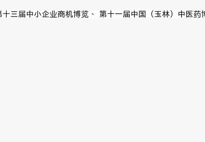 第十三届中小企业商机博览、第十一届中国(玉林)中医药博览会开幕-词云