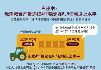 白皮书:我国粮食产量连续4年稳定在6.5亿吨以上水平