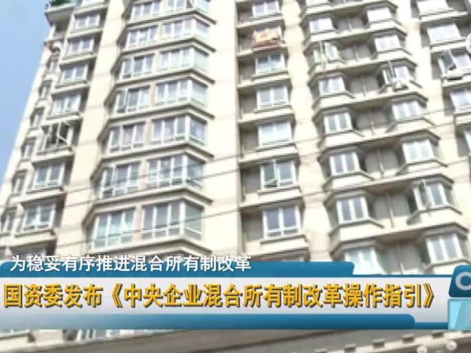 国资委发布《中央企业混合所有制改革操作指引》