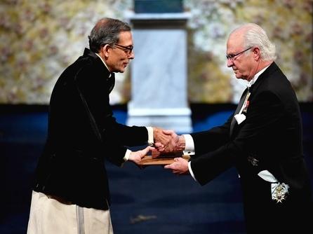 2019年诺贝尔奖颁奖仪式在斯德哥尔摩举行