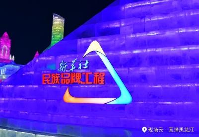 哈尔滨冰雪大世界新华社民族品牌工程主题园开园仪式