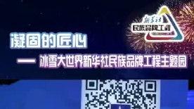 哈尔滨冰雪大世界新华社民族品牌工程主题园——京东集团单体冰景快剪短视频