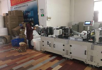 安徽桐城市:全力生产防疫物资 助力疫情防控