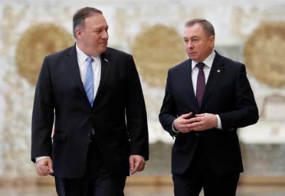 蓬佩奥访问白俄罗斯推动两国关系正常化