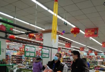安徽固镇县加大超市、农贸市场等场所防控力度