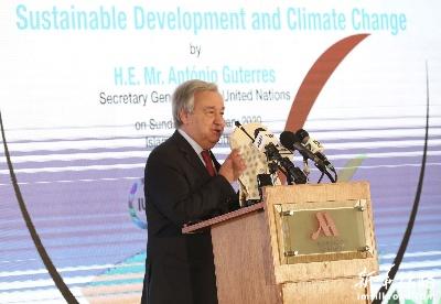 古特雷斯呼吁世界各国努力应对气候变化