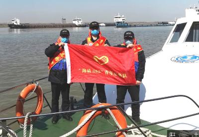 """芜湖荻港海事处:青年服务队战""""疫""""冲在前"""