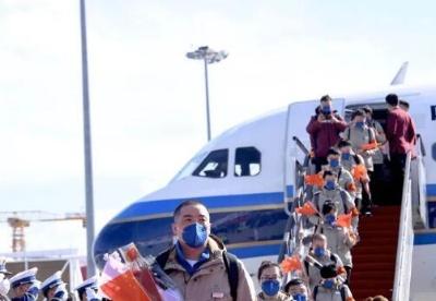 吉林省支援湖北医疗队首批返吉队员凯旋