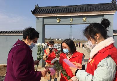 """安徽天长:火纸换鲜花,文明祭祀更""""清明"""""""