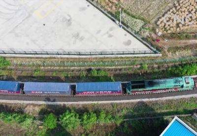 长三角正式开行至东盟中欧班列