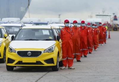 刚刚,2500台上汽自主品牌汽车发往澳新市场!