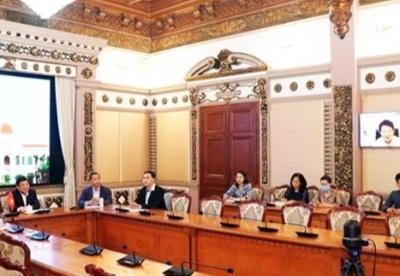 胡志明市与日本爱知县通过视频方式加强合作