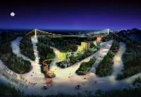 中国最长的斜拉式玻璃悬索桥将落户莲花山 长春再添旅游新地标
