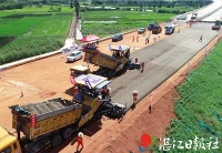 粤湛高速东雷项目路面垫层试验段完成