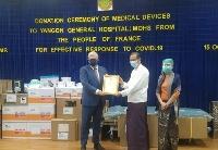 法国向缅甸卫生部捐助价值五万欧元的新冠肺炎医疗用品