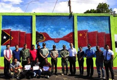 驻东帝汶使馆经商参赞出席中资企业捐建运动场交接仪式