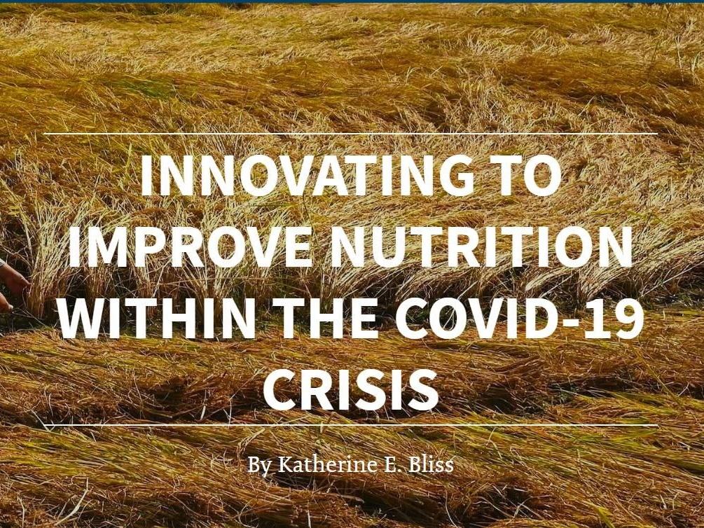 疫情期间改善营养的创新方式