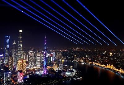 上海:灯光璀璨迎进博