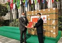 中国外交部向阿盟捐赠第二批抗疫物资