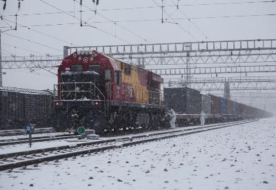 阿拉山口铁路口岸进出境中欧班列突破4500列