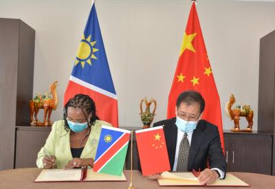 驻纳米比亚使馆向纳卫生部移交抗疫物资