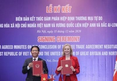 越南与英国自由贸易协定于2020年12月31日23时正式生效