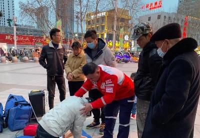 宿州埇桥区红十字救援大队开展应急救护宣传志愿服务活动