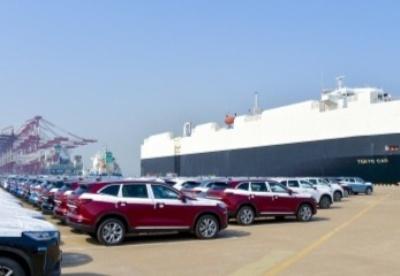 天津港今年最大批量国产品牌汽车出口澳洲