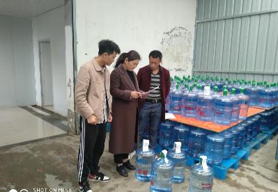 """安徽固镇: 开展""""大桶水""""生产企业监督抽检工作"""