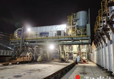 宝钢湛江钢铁三高炉系统项目炼焦工程3B焦炉热负荷试车成功