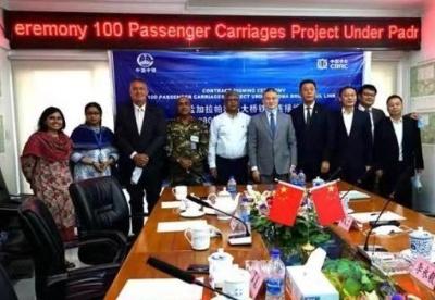 中国出口孟加拉100辆宽轨铁路客车合同签约