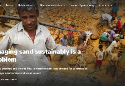 为什么可持续管理沙子是棘手问题