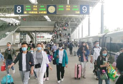 """蚌埠高铁南站多种措施保""""五一""""小长假安全顺畅"""