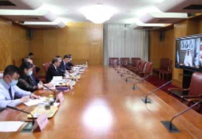 国家发展改革委副主任宁吉喆视频会见阿联酋工业与先进技术部部长苏尔坦