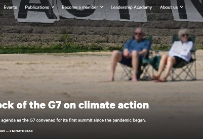 英智库评估七国集团的气候行动