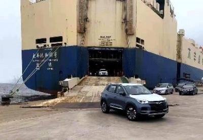 辽港集团商品车外贸业务再迎新货源