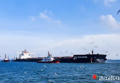 广东省唯一40万吨级航道试运行