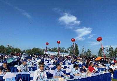 安徽霍邱县第二届荷花文化旅游节开幕