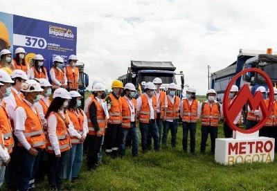 中交集团参建的哥伦比亚波哥大地铁一号线项目开工