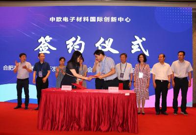 长三角新材料论坛暨中欧电子国际创新中心签约仪式在合肥举行