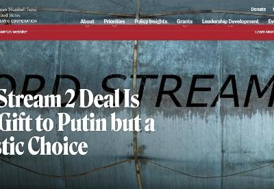 """专家称美德就""""北溪-2""""管道达成协议是现实选择"""