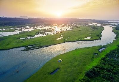 安徽六安裕安区:大别山湿地风光美