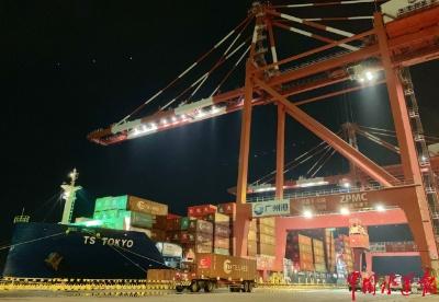 中国-加拿大温哥华快航NW1新航线从南沙港区起航